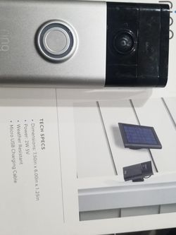 Ring Doorbell. And Solar Panel for Sale in CA,  US