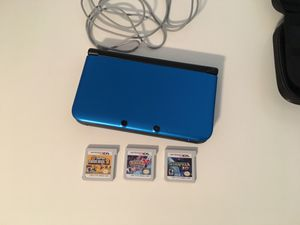 Nintendo 3 DS XL with 3 Games and Case for Sale in Aliquippa, PA