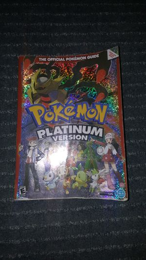 Pokémon platinum strategy guide for Sale in Seneca, SC