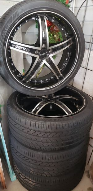 Practically new rims and tires for Sale in Anniston, AL