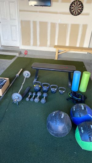 Weights Gym Equiptment Olympic bar etc.. for Sale in Las Vegas, NV
