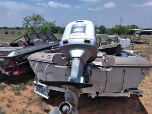 150 horse Evinrude very good motor it's on ejected mascots controls boat and trailer for Sale in Colorado City, TX