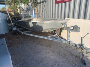 16' John boat and trailer for Sale in St. Petersburg, FL
