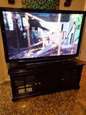 "65"" HD TV with Entertainment Center and Sound Bar for Sale in Clovis, CA"