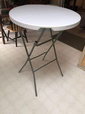 3ft - Round Granite White Plastic Bar Height Folding Table for Sale in Dillsboro, IN