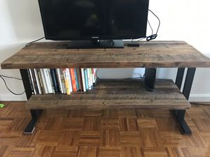 Reclaimed wood and iron TV stand for Sale in Jersey City, NJ