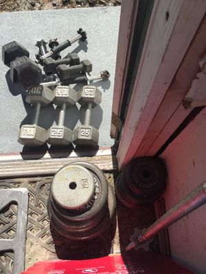 Dumbbells and weights plates set for Sale in Altamonte Springs, FL
