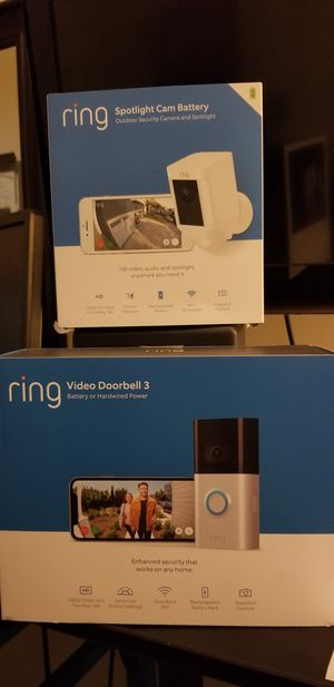Ring doorbell and spotlight camera for Sale in Raleigh, NC