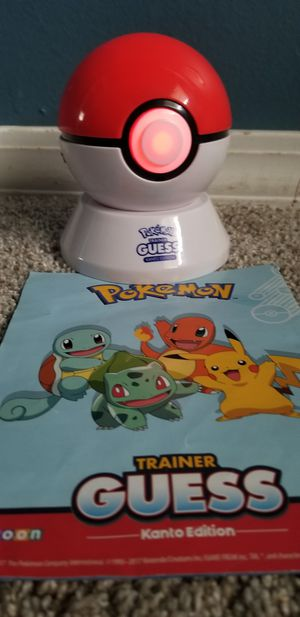 Pokemon trainer guess poke ball kanto edition for Sale in Hanover Park, IL