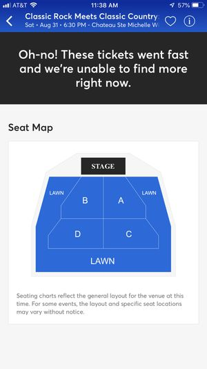 2 GA tickets to Steve Miller - Sat Aug 31 2019 for Sale in Newcastle, WA