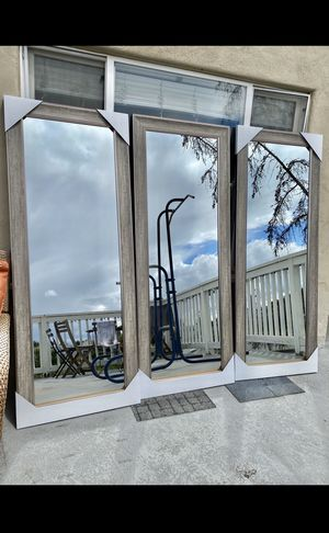 Big Mirrors with oak finish frame for Sale in Chula Vista, CA