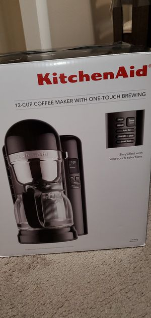 kitchenAid 12 cup coffee maker for Sale in Oklahoma City, OK