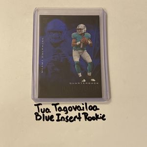 Tua Tagovailoa Miami Dolphins QB Short Print Blue Parallel Insert Rookie Card. for Sale in San Jose, CA
