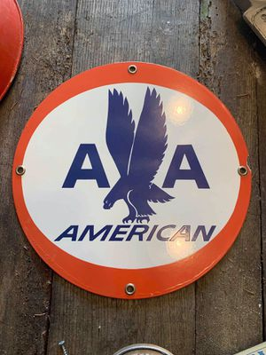 """Vintage Original American Airlines 14"""" Porcelain Sign for Sale in Plano, TX"""