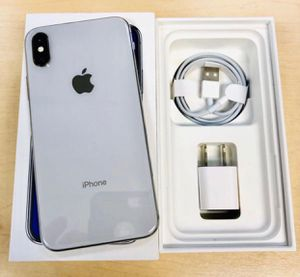 iPhone X 64GB Unlocked for any carrier (worldwide) with complete Accessories for Sale in Silver Spring, MD