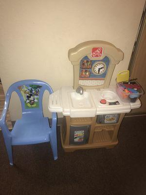 Kids kitchen toy & chair for Sale in Redmond, WA