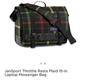 JanSport Throttle Plaid 15-in Laptop Messenger Bag for Sale in Fairfax, VA