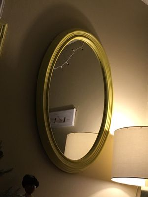 Antique Yellow Oval Mirror for Sale in Casselberry, FL