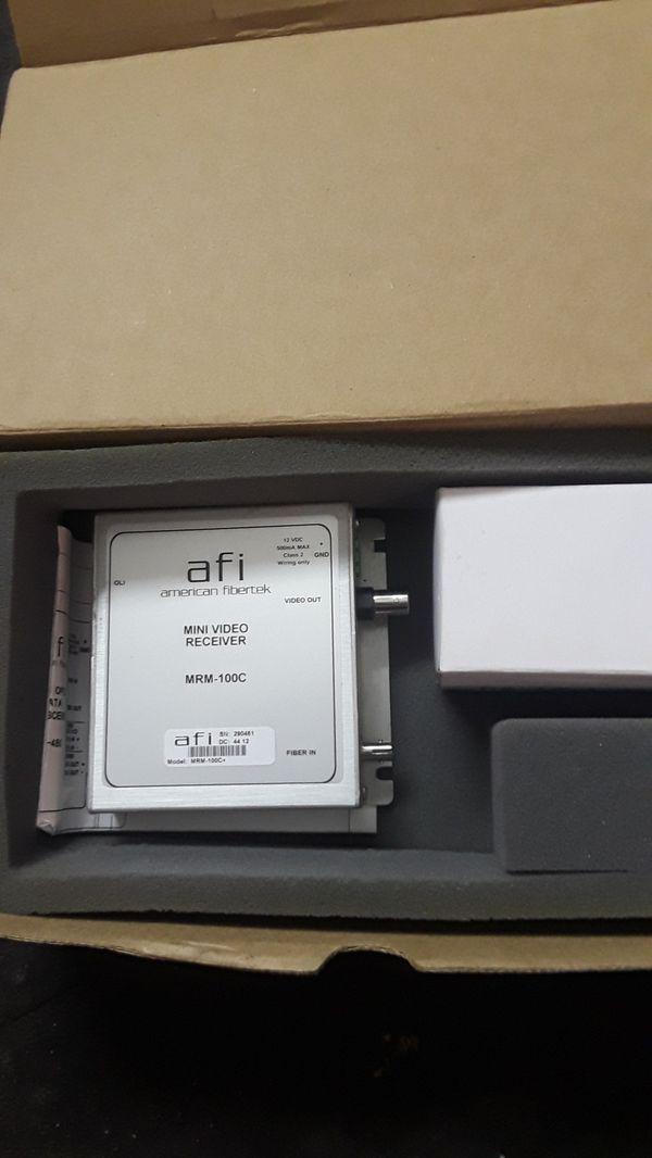 American Fibertek mini video Receiver new