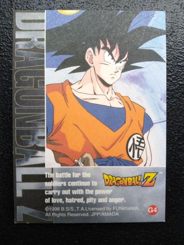 GOLD DRAGON BALL Z CARDS