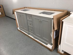 """72"""" bathroom vanity set new two sinks soft close BRAND NEW for Sale in Federal Way, WA"""