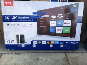 """TCL 75S423 75"""" 4K UHD HDR ROKU SMART TV 2160P *FREE DELIVERY* for Sale in Everett, WA"""