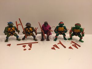 1988 TMNT Turtles Lot - Vintage Action Figure Toy Playmates - Splinter - Teenage Mutant Ninja Turtles for Sale in Naperville, IL