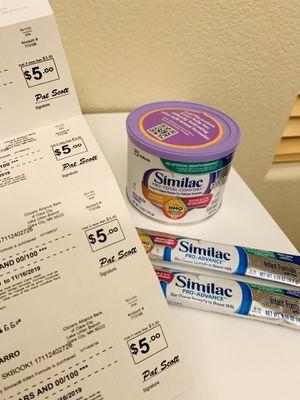 Similac formula & coupons ($25) for Sale in Las Vegas, NV