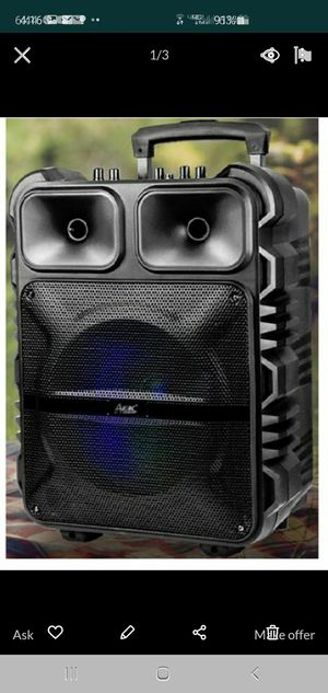 """New 12"""" subwoofer rechargeable, Bluetooth, usb, sd, tf, fm, microphone for Sale in Riverside, CA"""
