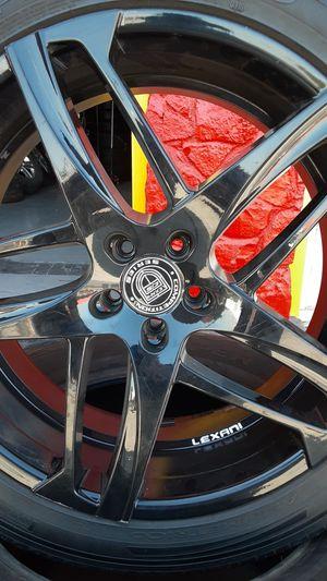 275 45 22 Pirelli Scoroio Zero(2)Tire Rims Lexani(4) for Sale in Fresno, CA