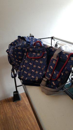 Gonzaga duffle bag messenger bag and back pack for Sale in Spokane, WA