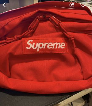 Supreme waist bag (ss18) red for Sale in Fremont, CA