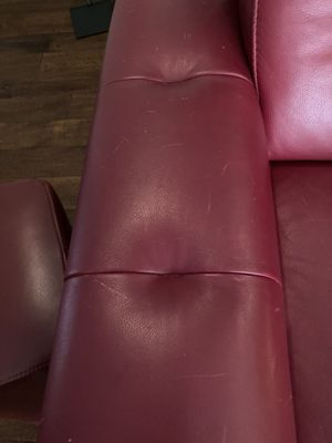 Leather sofa and matching ottoman for Sale in Scottsdale, AZ