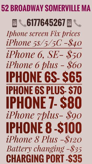 iPhone screen and batteries for Sale in Cambridge, MA