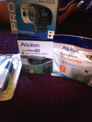 Aquarium filter with filter replaements for Sale in Fresno, CA