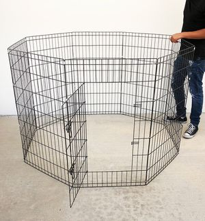 """New in box $45 Foldable 42"""" Tall x 24"""" Wide x 8-Panel Pet Playpen Dog Crate Metal Fence Exercise Cage Play Pen for Sale in South El Monte, CA"""