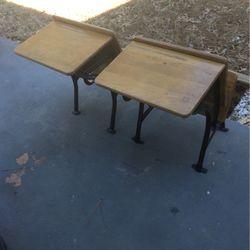 Vintage Wood & Metal School Desk 2 Each for Sale in Stone Mountain,  GA