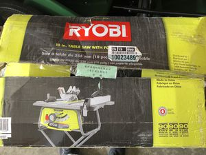 """Ryobi 10"""" table saw with stand for Sale in Goodyear, AZ"""
