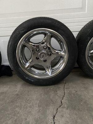 """15 inch rims/ wheels/ rims /vintage style/15X 7 wheels/15"""" wheels/tires/llantas usadas 15 for Sale in Los Angeles, CA"""