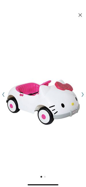 Hello kitty car electric for toddler and big girl for Sale in Woodbridge, VA