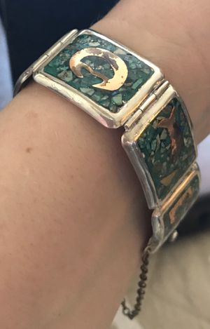 Vintage .925, Turquoise & Copper Bracelet for Sale in Springfield, VA