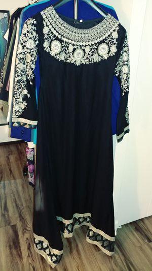 Gorgoeus black with heavy gold embroidery handwork dress for Sale in Alexandria, VA