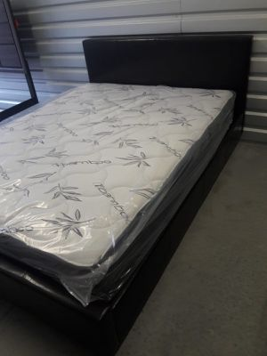 NEW FULL SIZE BED FRAME AND MATTRESS AVAILABLE FOR DELIVERY for Sale in Miami, FL