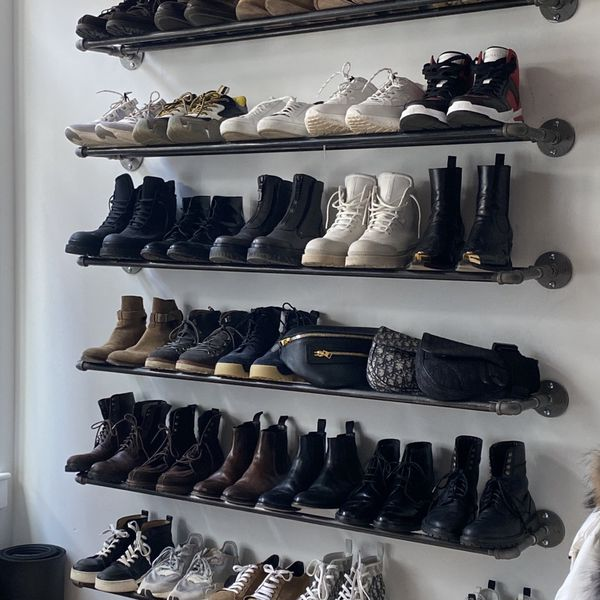 CUSTOM SHOE WALL // 8 Shelves