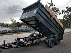 Dump trailer with ramps for Sale or Rent. 13' with 3' sides. 9,990# GVWR Carry 7000# for Sale in Irvine, CA