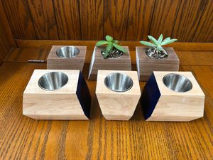 Handmade Succulent Planters Solid Maple Or Walnut for Sale in Palatine, IL