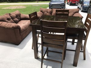 Dining Set with glass top & 2 sofa. for Sale in Claxton, GA