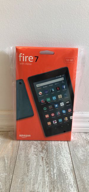 Amazon Fire 7 Tablet (32 GB) - Twilight Blue. 9th generation. Brand New for Sale in E ATLANTC BCH, NY