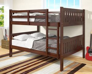 1015 Full over Bunk Bed espresso *free delivery in Houston* for Sale in Katy, TX