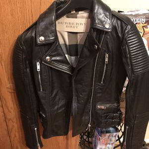 Burberry Leather Jacket for Sale in Norcross, GA